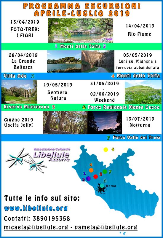 programma escursioni nel Lazio da Aprile a Luglio