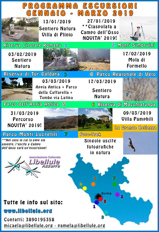 programma escursioni settembre-dicembre